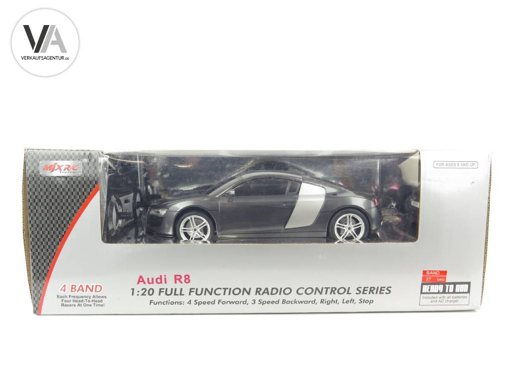original mjx audi r8 grau lizenz modell rc r c. Black Bedroom Furniture Sets. Home Design Ideas