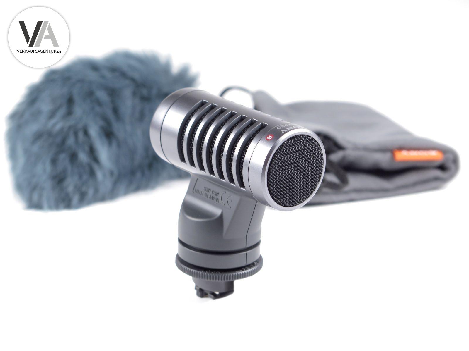 Sony Camcorder Stereo Zoom Mikrofon ECM-HST1 inkl WINDSCHUTZ